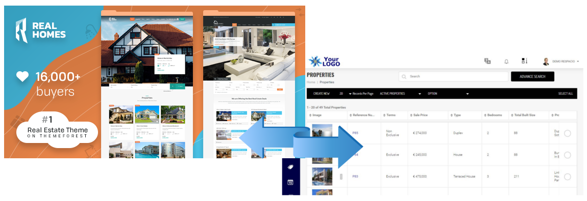 Sync Real Homes Theme with CRM